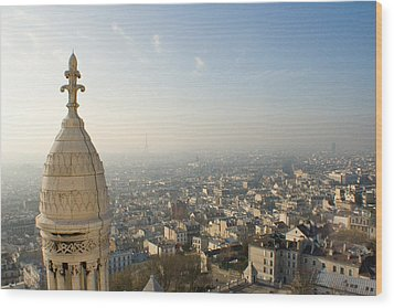 Wood Print featuring the photograph View From Montmartre by Jon Emery