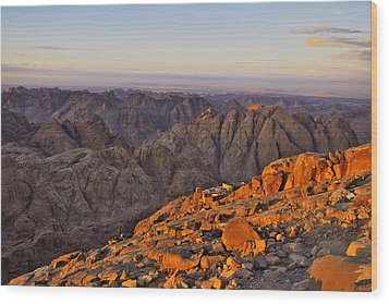 View From Mount Sinai Wood Print by Ivan Slosar