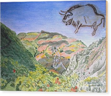 View From Niaux Cave In France Wood Print