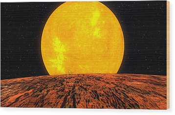 View From Planet Kepler 10b Wood Print by Movie Poster Prints