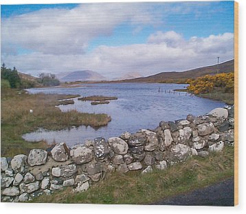 Wood Print featuring the photograph View From Quiet Man Bridge Oughterard Ireland by Charles Kraus