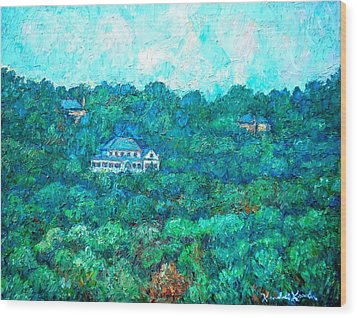 View From Rec Center Wood Print by Kendall Kessler