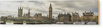 View From Southbank Wood Print by Heather Applegate