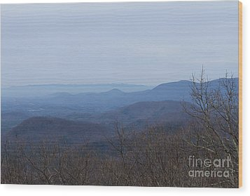 View From Springer Mountain Wood Print