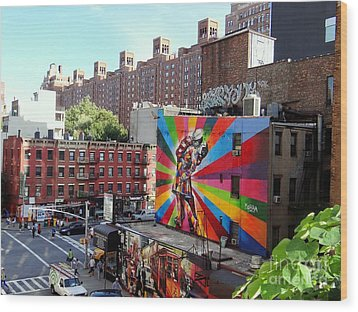 View From The Highline Wood Print by Ed Weidman