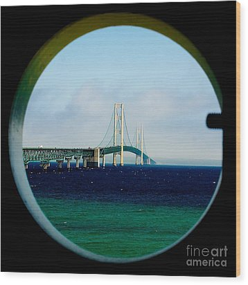 View From The Mackinac Light Wood Print