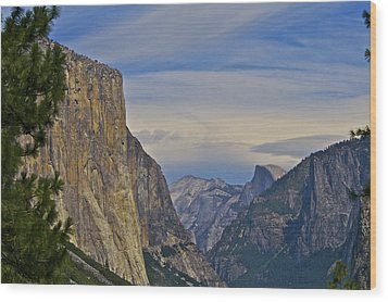 View From Wawona Tunnel Wood Print