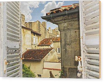 View In Cognac Wood Print by Elena Elisseeva