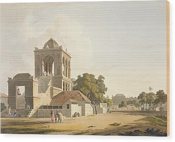 View In The Fort, Madura, Plate 14 Wood Print by Thomas Daniell