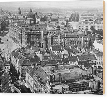 Wood Print featuring the photograph View Of Berlin Germany 1903 Vintage Photograph by A Gurmankin