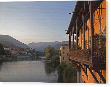 View Of Brenta River Wood Print