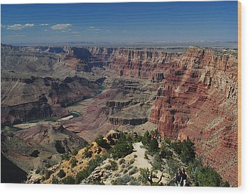 View Of Colorado River At Grand Canyon Wood Print