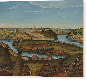 View Of Fort Snelling Wood Print by Edward K Thomas
