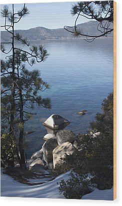 View Of Lake Tahoe Wood Print