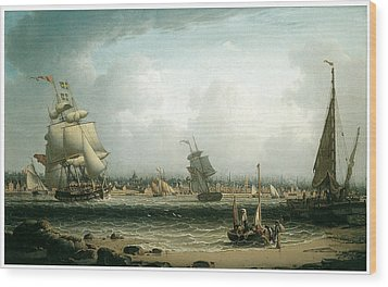 View Of Liverpool Wood Print by Robert Salmon