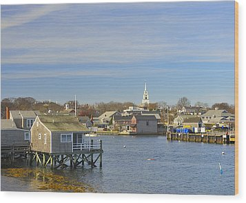 View Of Nantucket From The Harbor Wood Print