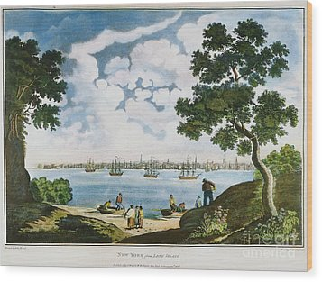 View Of New York 1801 Wood Print by Granger