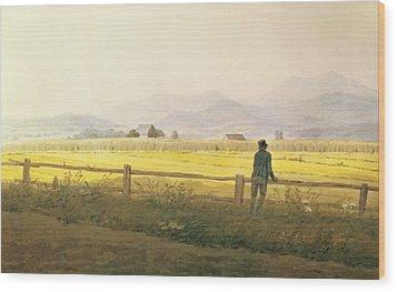View Of Schmiedebergerkamm Wood Print by Caspar David Friedrich