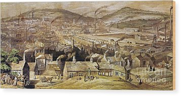 View Of Sheffield England Wood Print by Granger