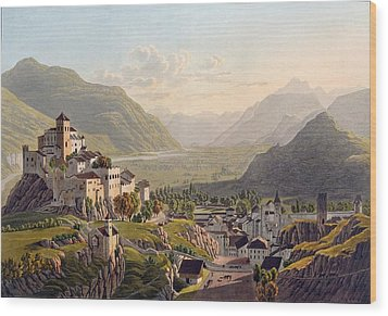 View Of Sion, Illustration From Voyage Wood Print by Gabriel L. & Lory, Mathias G. Lory