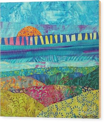 View Of The Bridge Wood Print by Susan Rienzo
