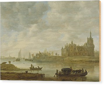 View Of The Castle Of Wijk At Duurstede Wood Print by Jan van Goyen