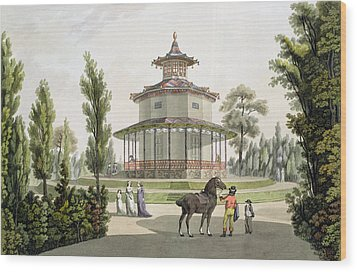 View Of The Chinese Summer House Wood Print by Laurenz Janscha