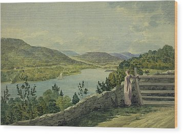 View Of The Hudson Circa 1817 Wood Print by Aged Pixel