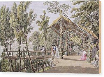 View Of The Reisenberg Gardens Wood Print by Laurenz Janscha