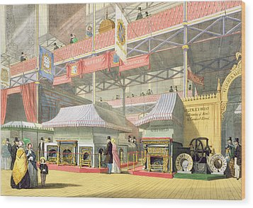 View Of The Sheffield Hardware Stand Wood Print by English School