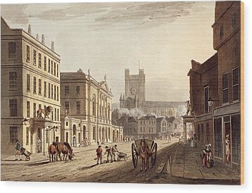 View Of The Town Hall, Market And Abbey Wood Print by John Claude Nattes