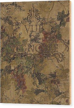 View Of The Vineyard Wood Print