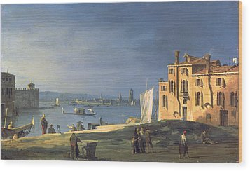 View Of Venice Wood Print by Canaletto