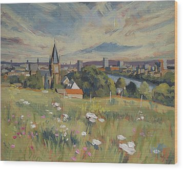 View On Maastricht Wood Print by Nop Briex