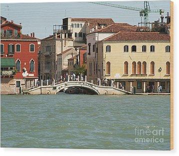 View On Venice Wood Print by Evgeny Pisarev