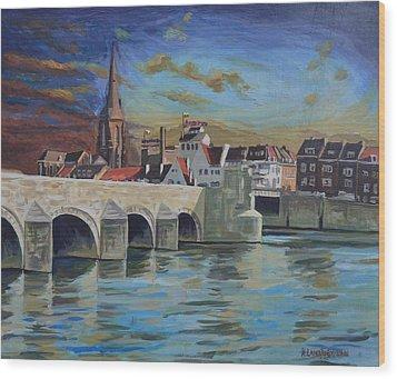 View On Wyck East Bank Maastricht Wood Print