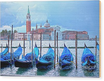 View To San Giorgio Maggiore Wood Print by Heiko Koehrer-Wagner