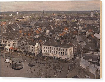 View To The East In Maastricht Wood Print by Nop Briex