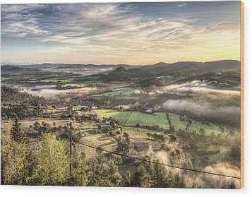 Views From Balsareny Castle In Catalonia Wood Print