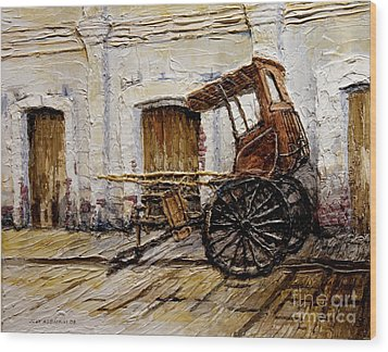 Vigan Carriage 1 Wood Print