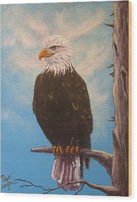Vigilant Eagle Wood Print