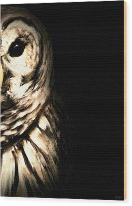 Vigilant In Darkness Wood Print by Lourry Legarde