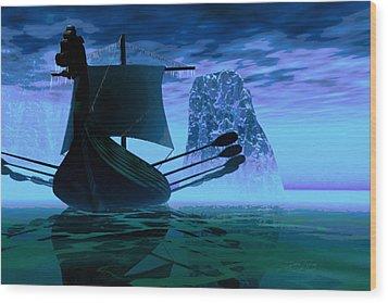 Viking Journey Wood Print by Dan Terry