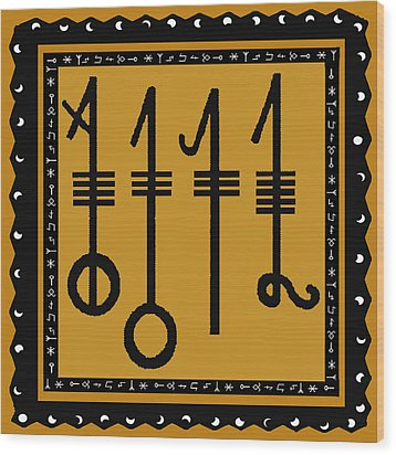 Wood Print featuring the digital art Viking Sleepthorn Spell by Vagabond Folk Art - Virginia Vivier
