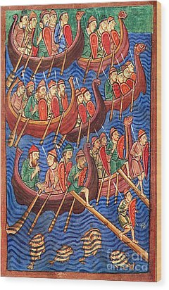 Vikings Invade England 9th Century Wood Print by Photo Researchers