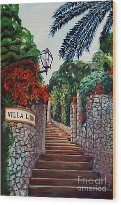 Villa Lidia Wood Print by Nancy Bradley