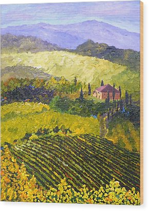 Villa Toscana Wood Print by Diane Arlitt