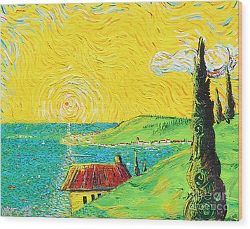 Village By The Sea Wood Print by Stefan Duncan