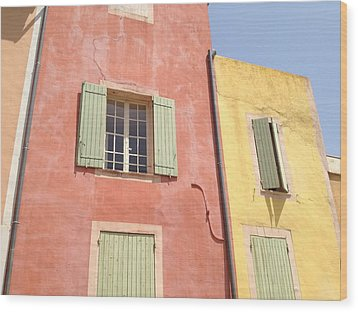 Village Of Roussillon France Wood Print by Pema Hou
