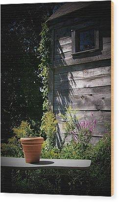 Wood Print featuring the digital art Villagio by Barbara S Nickerson